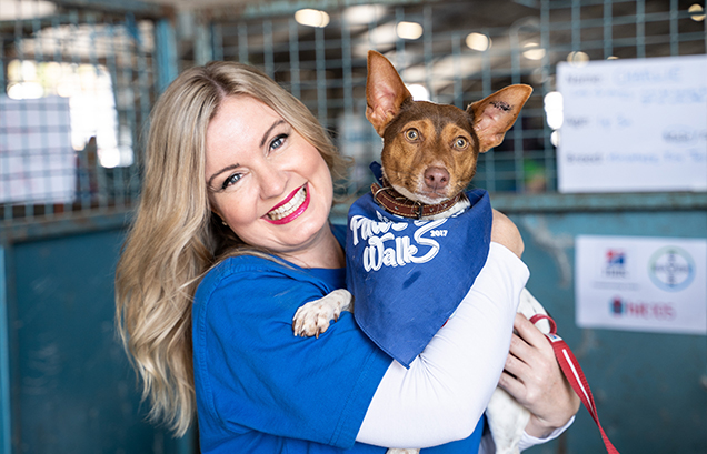 rspca ambassador jessica stafford at big adopt out 2019